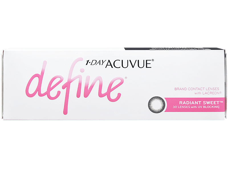 1 Day Acuvue Define Moist Radiant Sweet with LACREON